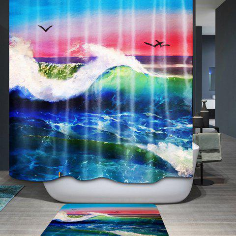 New Nature Landscape Waterproof Polyester Bath Shower Curtain - COLORFUL  Mobile