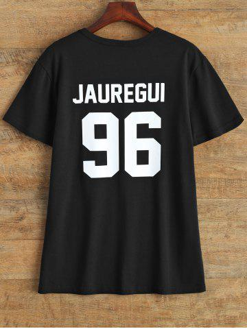Unique Jewel Neck Jauregui 96 T Shirt BLACK L