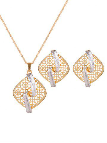 Outfits Rhombus Hollow Out S Shape Jewelry Set