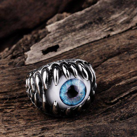 Sale Tooth Eye Punk Alloy Ring - 8 SILVER Mobile
