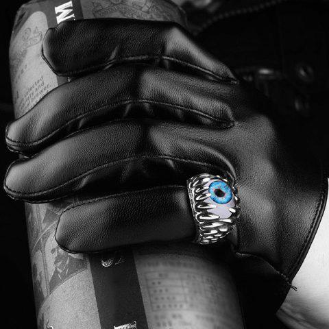 Store Tooth Eye Punk Alloy Ring - 8 SILVER Mobile