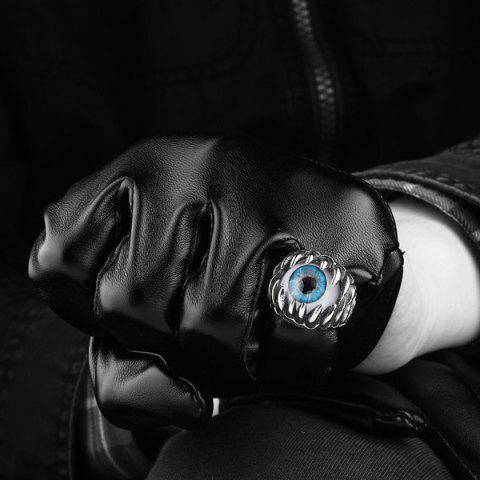 Online Tooth Eye Punk Alloy Ring - 8 SILVER Mobile