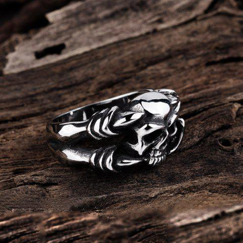 Buy Alloy Devil Skull Biker Ring - 8 SILVER Mobile