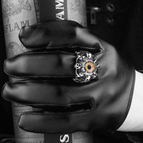 Hot Skull Eye Claw Alloy Ring - 9 SILVER Mobile