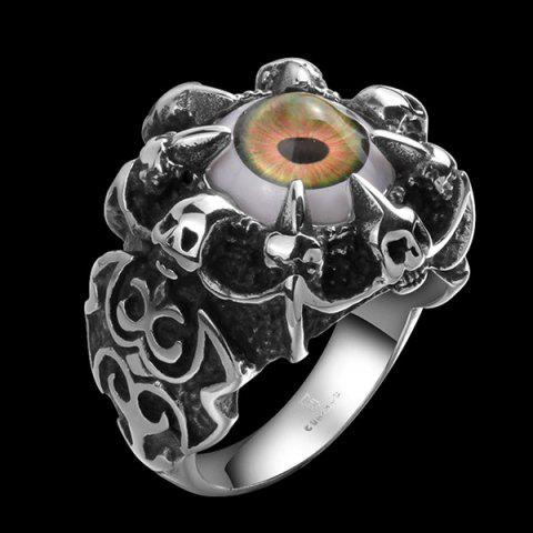 Outfit Skull Eye Claw Alloy Ring - 9 SILVER Mobile