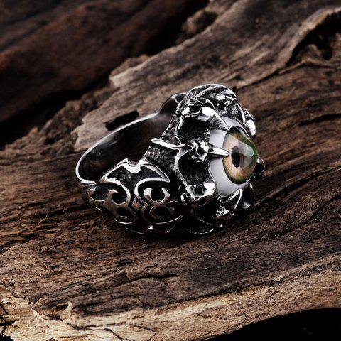 Online Skull Eye Claw Alloy Ring - 9 SILVER Mobile