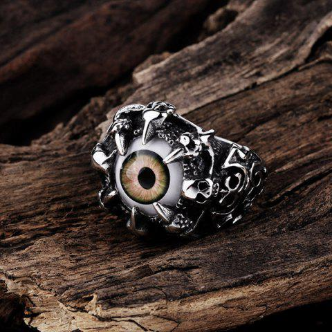 Store Skull Eye Claw Alloy Ring - 9 SILVER Mobile