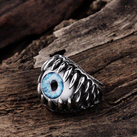Fancy Tooth Eye Punk Alloy Ring - 11 SILVER Mobile
