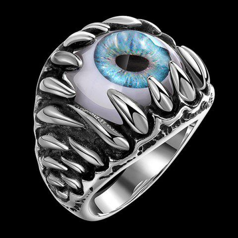 Outfits Tooth Eye Punk Alloy Ring - 11 SILVER Mobile