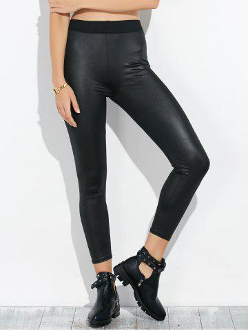 Shops High Waist Faux Leather Footless Leggings