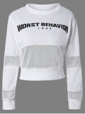 Buy Crew Neck Letter Sweatshirt