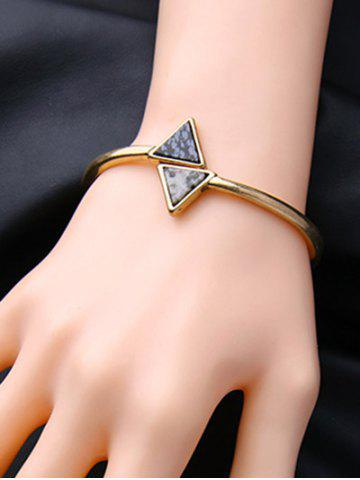 Cheap Vintage Natural Stone Triangle Bracelet GOLDEN