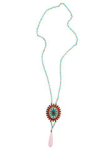Latest Bohemian Rhinestone Flower Beaded Sweater Chain