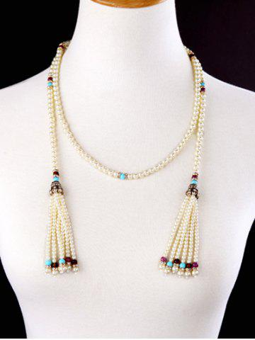 Shop Rhinestone Artificial Pearl Beaded Necklace