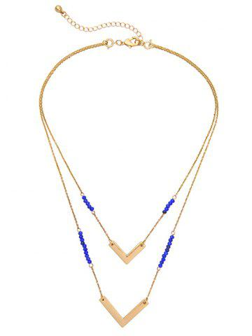 Cheap V Shaped Beads Layered Necklace