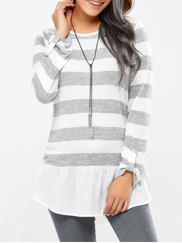 Shops Striped Side Slit Tee