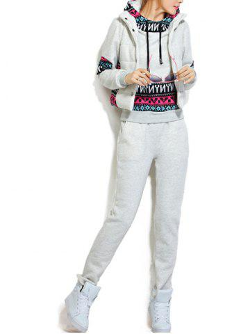 Fleece Pocket Hoodie et Vest Avec Track Pants Set