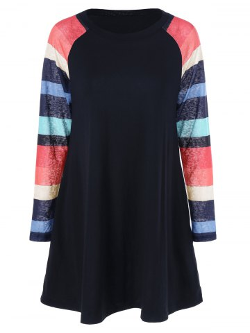 Online Colorful Striped Dress