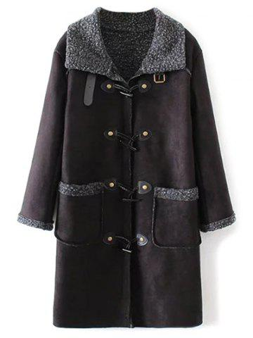 Affordable Lamb Duffle Coat With Pockets