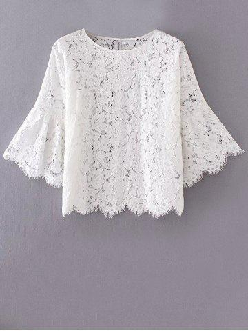 Sale Flare Sleeve Lace Loose Blouse