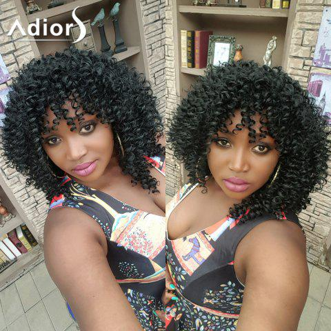 Outfit Adiors Hair Medium Afro Curly Side Bang Synthetic Wig