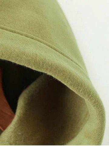 Cheap Zippered String Loose Hoodie - L ARMY GREEN Mobile