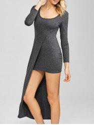Long Sleeve Sheath Asymmetric Dress