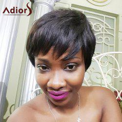 Adiors Hair Short Mixed Color Full Bang Straight Synthetic Wig