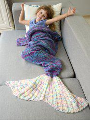 Warm and Soft Knitted Sofa Kids Mermaid Tail Blanket -