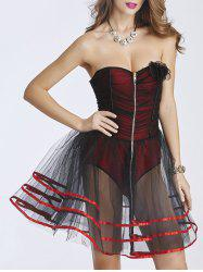 Tulle Zip Up Corset Dress -