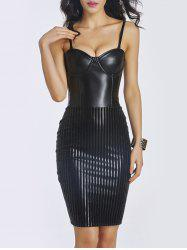 Faux Leather Bodycon Short Corset Dress -
