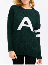 A Letter Pullover Sweater