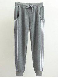 Plus Size Stripe Panel Track Jogger Pants