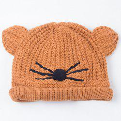 Warm Crocheting Animal Head Cat Face Hat -