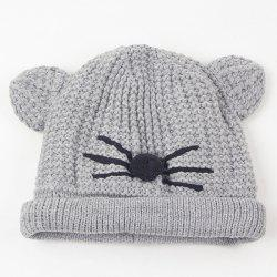 Warm Crocheting Animal Head Cat Face Hat