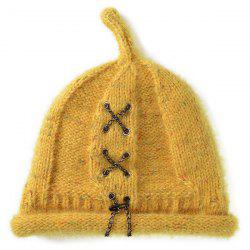 Warm Criss Cross Chain Woolen Yarn Hat -