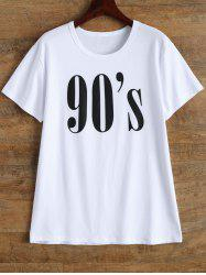 Casual Short Sleeve Graphic Letter Print T Shirt -