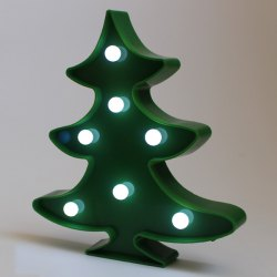Xmas Tree Shape LED Night Light Christmas Decoration - GREEN