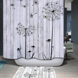 Concise Dandelion Water Resistant Mildewproof Shower Curtain -