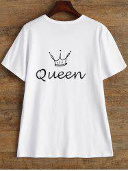 Print Queen Crown Short Sleeve T Shirt