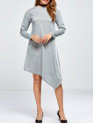 Long Sleeve Asymmetric T-Shirt Dress