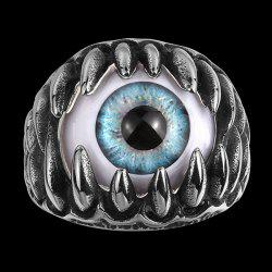 Tooth Eye Punk Alloy Ring - SILVER