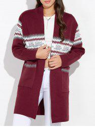 Graphic Open Front Cardigan