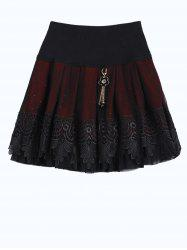 Key Chain Rhinestone Lace Yarn Mini Skirt -