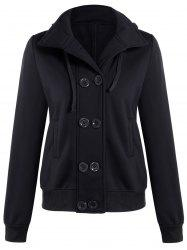 Hooded Long Sleeve Peacoat