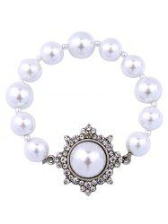 Vintage Artificial Pearl Beaded Bracelet