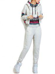 Fleece Pocket Hoodie and Vest With Track Pants Set -