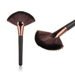 Fiber Big Fan Brush - BLACK