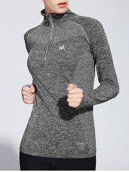 Long Sleeve Zipper Yoga T-Shirt