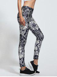 High Waist Floral Print Skinny Yoga Leggings
